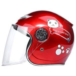 Motorcycle Helmets Children's Motor Bike Helmet Skate Safety Board Motorcycles All Seasons For Boys And Girls Open Face Unisex