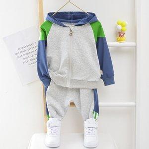 Toddler Boy Kapüşonlu Giysi 1 2 3 4 5 Yıl Pamuk Bebek Kız Spor Takım Elbise Erkek Bebek Uzun Kollu 1-5 Yıl Bahar Sonbahar Eşofman 929 V2