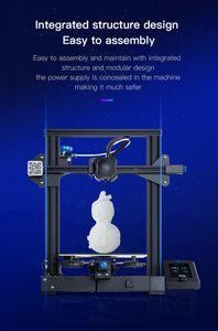 Creality Cleality 3D طابعة DIY كيت HENDER-3 V2 للمجموعات مع 32 بت صامتة اللوحة الرئيسية شاشة عرض شاشة استئناف الطباعة 1