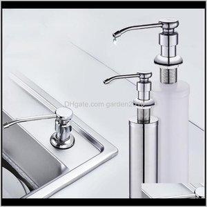2In1 Liquid Dispenser With Washing Soap Dispensers Pump Sponge Caddy For Bathroom Kitchen Accessories Gkto5 5Fxfz
