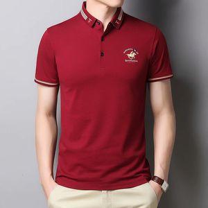 2021 Summer Short T- Casual Business Lapel Polo Printed Trendy Half Sleeve Men's Shirt