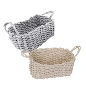 Storage Basket Desktop Organizer Box Handmade Clothes Laundry Natural Fabric Baby Toys Baskets