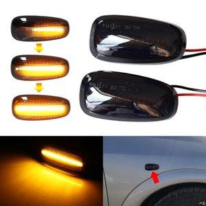 2pcs LED Dynamic Fender Side Marker Light Turn Signal Lamp For Zafira A 1999-2005 Astra G 1998-2009 Emergency Lights