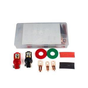 2 pairs of car universal battery plug head Fuse clip wiring classification set Alternator
