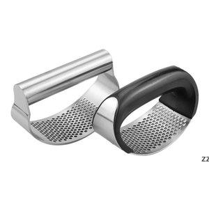 Stainless Steel Garlic Press with Box Rocker Garlics Crusher Tools Manual Rocking Mincer Squeezer Hand Held Kitchen Vegetable Tool HWF9839