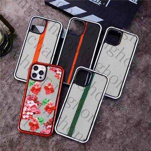 럭셔리 디자이너 꽃 인쇄 편지 곤충 꿀벌 패턴 전화 케이스 아이폰 12 11 프로 XS 최대 XR X 커버