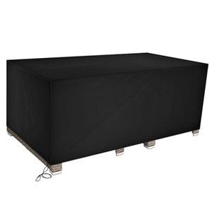 270 * 180 * 89cm 210D Oxford Panno Polvere di Polvere Piove Proteggi Tavolo e sedia Arredamento da esterno Materiali neri ad alta densità