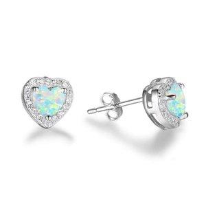 Moda donna orecchini cuore crystal intarsiato lega orecchio per orecchio donne di nozze natale festa regalo gioielli ragazza gioielli
