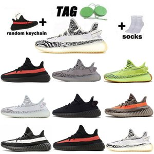 Static Reflective 3M V2 Beluga 2.0 Running shoes sesame butter black breds oreos White zebra sports sneakers size 36-47