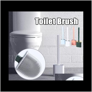 Holders Sile Toilet Wall Save Space Brush Mounted Flat Head Flexible Soft Brushes With Quick Drying Holder Set Bathroom Accessory J4Dl Tyzof