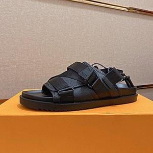 Мужчины дизайнерские шлепанцы сандалии тапочки топ Qulity Draw нить лето слайды роскоши роскошный плоский мужчина