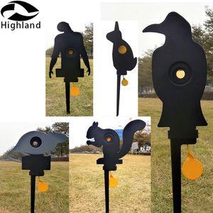 Crow Zombie-ratón de Metal con reinicio automático, objetivo de tiro para. 177 o. 22 o tiro de Paintball