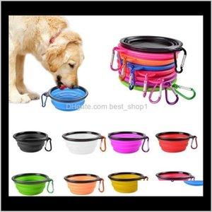 Alimentations Dog Dog Pet Dish Pluvial Bols Portable Portable Pliable avec crochet EXPLASTABLE EXTENDIBLE BOÎNE DE FEERDERS GZJQO 4BFSV