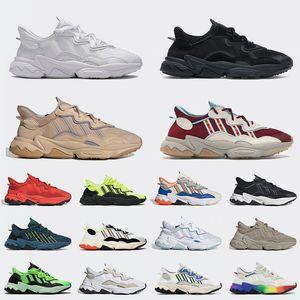 ozweego أحذية ركض أصيلة 2021 عالية الجودة باللون الأبيض السحابي ثلاثي أسود شاحب عاري رمادي أربعة تريس كاكي أحذية رياضية 36-45 يورو