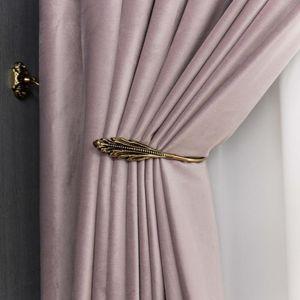 Curtain & Drapes Pink Purple Dutch Flannelette Material Fashion Bedroom Living Room Study Shade Custom