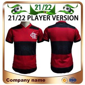 21/22 версия игрока Flamengo Home Soccer Jersey 2021 Gabriel B. diego e.Ribeiro Gabi рубашка де araScaeta Gerson B.henrique Футбольная форма