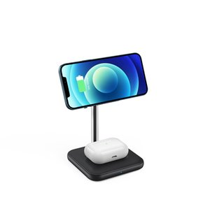 Desktop magnetic wireless charging stand can charge three devices at the same time