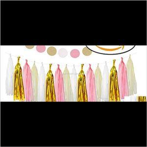 Other Event Supplies Tissue Paper Tassel Diy Party Garland For Baby Decoration Bridal Shower Wedding Bunting Pom Poms Eijw4 Wzbva