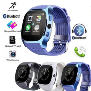 T8 Bluetooth Smart Watch with Camera Phone Mate SIM Card Pedometer Life Waterproof for SmartWatch 3 Colors