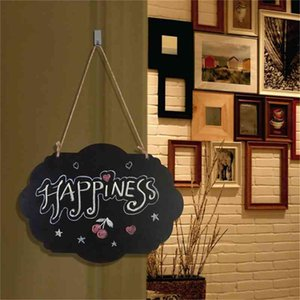 Cloud Shape Hanging Wooden Blackboard Double Sided Erasable Chalkboard Wordpad DIY Message Black Board Office School Supplies DBC BH4586