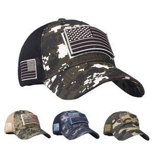 Fashion Summer Flag Hat Washed Old Letter Baseball Cap Hip Hop Breathable Mesh Sun Gorras Unisex Streetwear Bone Wide Brim Hats