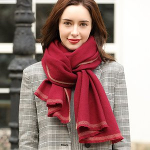 100% Pure Cashmere Inner Mongolia Women's Winter Wool Annual Meeting China Red Benmingnian Scarf