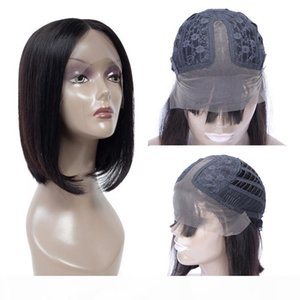 Natural Bob Wig Raw Indian Remy Straight Human Hair Glueless Lace Front Wigs For Black Women Pixie Cut Short Frontal Lace Closure Bob Wig