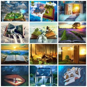 Paintings AZQSD Painting By Numbers Scenery Book Drawing Landscape HandPainted Home Decoration Gift Kits On Canvas