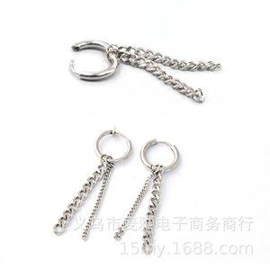 Quanzhilong G-dragon Same Double Chain Earrings, Earrings and F10