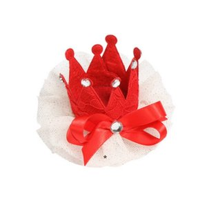 Dog Apparel Grooming Crown Cat Pet Hair Clip Small Pog Accessories Dogs Lace Ornaments HHE6444