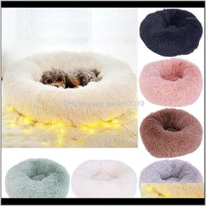 Kennels Pens Supplies & Garden Drop Delivery 2021 Cute Round Pet Dog Soft Warm Plush Kennel Puppy House Sleeping Home Bed Washable Mat Cushio