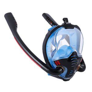 Masques de plongée 2021 Hommes adultes Femmes Masque Natation Double Tube Tube Silicone Plein Sec Snorkeling Scuba Goggles