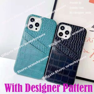 luxury designer phone cases for iPhone 12 Pro Max 11 X Xs Xr 8 7Plus Fashion Two Card Holder PU Leather protective cover