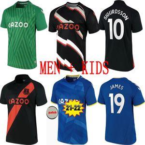 21 22 جيمس هوم كارلس الكسالة الأزرق كوالفيرت ليوين كالفيرت ليوين ريتشارليس بعيدا الأسود ألان ديجين ديجور 2021 2022 لكرة القدم قميص الرجال + أطفال مجموعة مجموعة