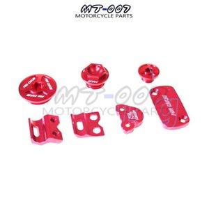 Kütük Parçası Paketi Fren Rezervuar Kapağı + Hortum Kelepçesi + Motor Fişleri + CRF250R 250X 450R 450X Kırmızı Montaj için Motor Yağı