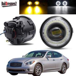 Other Lighting System 2 X Car Angel Eye Fog Light Assembly LED Lens DRL Daytime Running Lamp 30W 12V For Infiniti Q Q60 Q70 2011 2012 2013