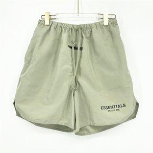 2021 Moda Verano EE.UU. 3M Neylon shorts reflectante Matcha Green Mujeres Hombres 6th High Street Medio Jogging Pantalones