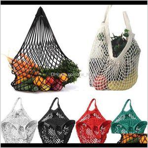 Bags Housekeeping Organization Home & Gardenmesh Reusable String Fruit Handbag Totes Women Shopping Mesh Net Woven Shop Grocery Tote Bag Foo
