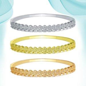 Armreif Gold Armbänder für Frauen Kleine Blume Baguette Diamant Manschette Charm Armreifen Schmuck Kristall Stein Luxus Mode Punk