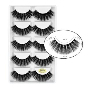makeup tools 3d mink lashes 5 pairs sets dramatic faux eyelashes G800 for beauty vegan false cilios direct sales accpet to custom package and print private LOGO