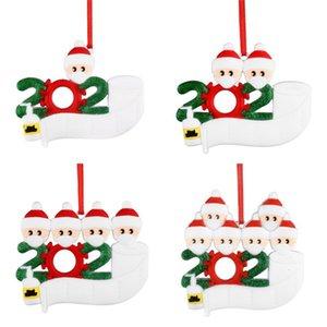 Рождественский карантин кулон PVC DIY имя благословение семейное подвеска 2 3 4 5 кукол носить маски орнамента