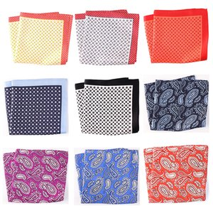 Tailor Smith Pure Natural Silk Printed Designer Hanky Pocket Square Fashion Style Handkerchief Luxury Mens Formal Neckwear
