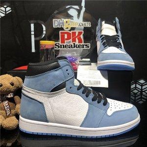 Top Quality Jumpman 1 1S High Basketball Zapatos de baloncesto Obsidian UNIVERSION BLUE BLANCO JUEGO ROYAL TOE SPORT TRAINER MENS ROTWARD TAPITORIO 3.0 HOMBRES Deportes Sneaker con caja