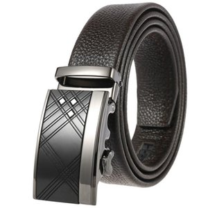 Sell like hot cakes- mens belts luxury Leisure business men's first layer leather belt automatic buckle luxury brands