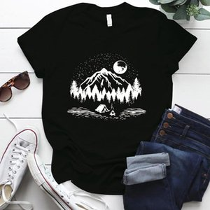 Natural Beauty Graphic T Shirts Plus Size S-5xl Oversized Shirt For Women Casual O Neck Polyester Woman Tshirts Y2k Top Women's T-Shirt