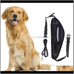 Dog Car Seat Covers Pet Puppy Waterproof Waist Bag Sport Running Traction Rope Yzcav V40Gw