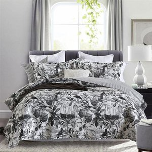Comforters & Sets Printed Bedspread On The Bed Cotton Quilt 3pcs Set Quilted Cover Pillowcase Queen Size Blanket Coverlets CHAUSUB