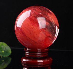 Искусство и 4855 мм Красный выплавка Каменный шар сфера Кристаллические Целебные ремесла Главная Поделка Подарок RGNTM YLRXP