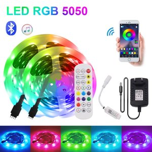 Strip Light With Remote 5m 10m 15m 20m 30m Bluetooth Music Control Flexible Ribbon Tape Diode Strips LED