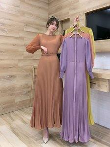 Элегантное мусульманское плиссированное арабское платье Maxi Abaya Hijab кардиган кимоно длинный халат Mubarak Vestidos EID Ramadan исламская Femme Djellaba
